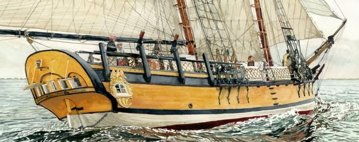 Schooner Sultana Fine Art Print by Marc Castelli
