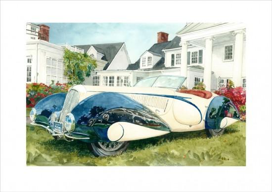 Distant Thunder / 1937 Delahaye 135 M Roadster