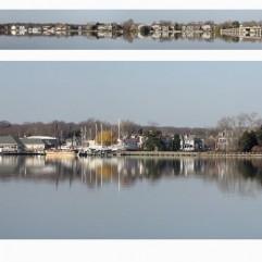 Panoramic Chestertown Waterfront- Winter 2012