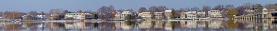 Panoramic Chestertown Waterfront- Winter 2002